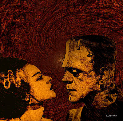 Universal Monsters Painting - Bride And Groom Bronze Ed. by Brian Dearth