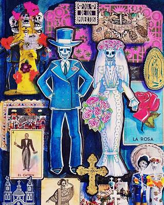 Loteria Mixed Media - Bride And Groom by Candy Mayer