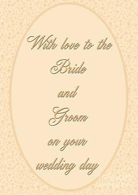 Digital Art - Bride And Groom Floral by JH Designs