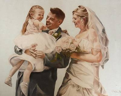 Betrothed Painting - Bride And Joy by Cherise Foster