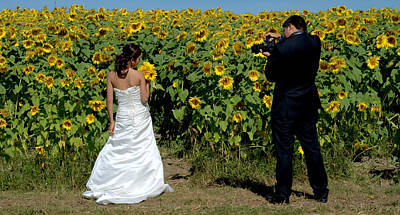 Photograph - Bride And Photographer by Caroline Stella