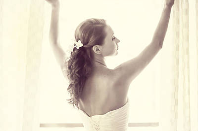 Bride At The Window Art Print