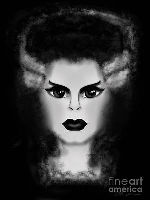 Christina Digital Art - Bride by Christina Kulzer