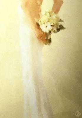 White Dress Digital Art - Bride by Gun Legler