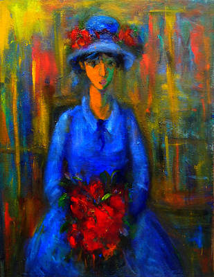 Painting - Bride In Blue  by Marina R Burch