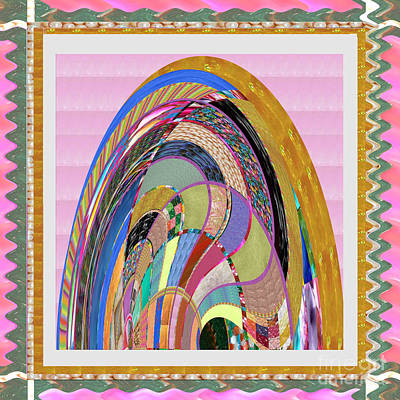 Bride In Layers Of Veils Accidental Discovery From Graphic Abstracts Made From Crystal Healing Stone Art Print by Navin Joshi