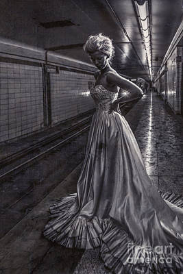 Suicide Wall Art - Photograph - Bride In The Subway by Diane Diederich