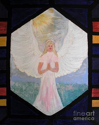 Painting - Angel In Prayer  by Karen Jane Jones