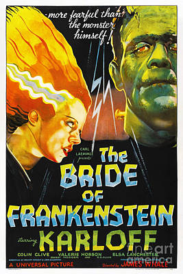 Bride Of Frankenstein Original by Steven Parker