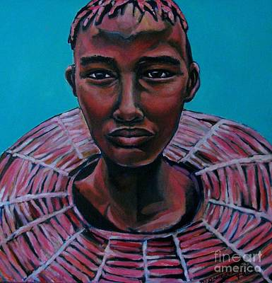 Painting - Bride - Portrait African by Grace Liberator