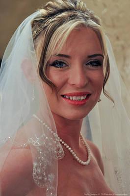 Photograph - Bride Retouced 2 by Teresa Blanton