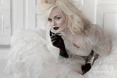 Bride With Black Claws Art Print