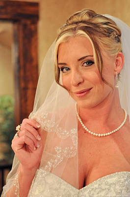 Photograph - Bride With Veil by Teresa Blanton