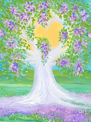 Bride's Tree Purple Art Print by First Star Art