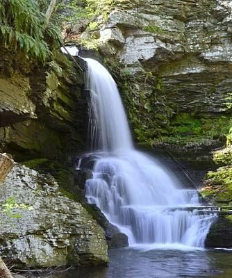 Photograph - Bridesmaid Falls - Bushkill Falls P A by Allen Beatty