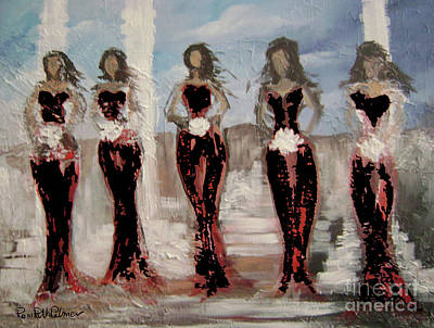 Figurative Painting - Bridesmaids In Black by Roni Ruth Palmer