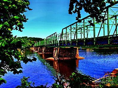Photograph - Bridge - New Hope To Lambertville by Jacqueline M Lewis