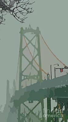 Abstractabstract Photograph - Bridge Abstract by John Malone