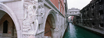 Bridge Across A Canal, Bridge Of Sighs Art Print by Panoramic Images