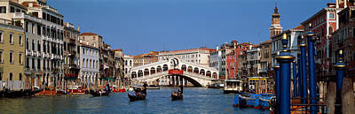 Bridge Across A Canal, Rialto Bridge Art Print