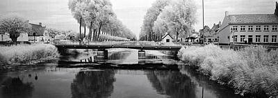 Belgium Photograph - Bridge Across A Channel Connecting by Panoramic Images