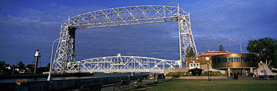 Duluth Photograph - Bridge Across A Lake At Dusk, Aerial by Panoramic Images