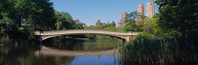 Bridge Across A Lake, Central Park, New Art Print by Panoramic Images