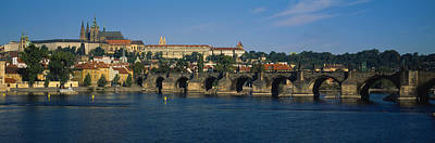 Prague Photograph - Bridge Across A River, Charles Bridge by Panoramic Images