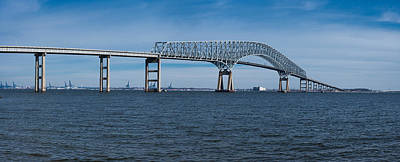 Maryland Photograph - Bridge Across A River, Francis Scott by Panoramic Images