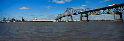 Baton Rouge Photograph - Bridge Across A River, Horace Wilkinson by Panoramic Images