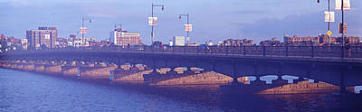 Charles River Photograph - Bridge Across A River, Longfellow by Panoramic Images