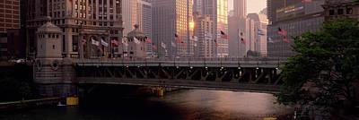 Bridge Across A River, Michigan Avenue Art Print by Panoramic Images