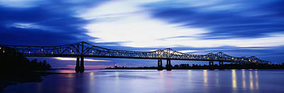 Bridge Across A River, Mississippi Print by Panoramic Images