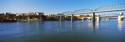 Bridge Across A River, Walnut Street Art Print by Panoramic Images