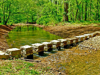 Bridge Across Colbert Creek At Mile 330 Of Natchez Trace Parkway-alabama Art Print by Ruth Hager