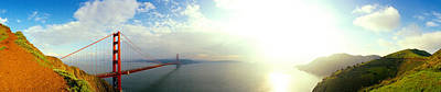 Bridge Across The Bay, Golden Gate Art Print by Panoramic Images