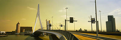 Maas Photograph - Bridge Across The River, Erasmus by Panoramic Images