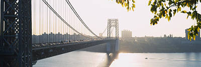 George Washington Bridge Photograph - Bridge Across The River, George by Panoramic Images