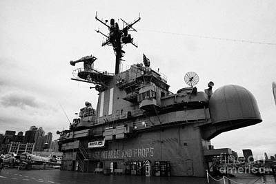Bridge And Flight Deck Island On The Uss Intrepid At The Intrepid Sea Air Space Museum Art Print by Joe Fox