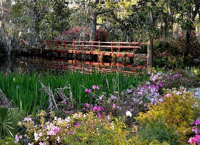 Photograph - Bridge And Floral by Jeff  Bjune