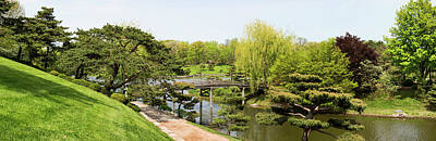 Bridge And Japanese Garden, Chicago Art Print