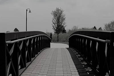 Photograph - Bridge And Lamp by Trent Mallett