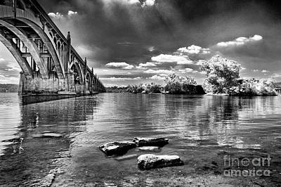 Photograph - Bridge And River  by Paul W Faust -  Impressions of Light