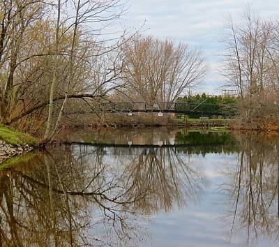 Photograph - Bridge And Trees Reflecting by MTBobbins Photography
