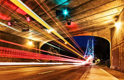 Lions Gate Bridge Photograph - Bridge And Tunnel by Alexis Birkill