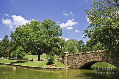 Photograph - Bridge At A Park In The Summer by Jill Lang