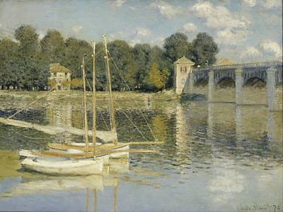 Small Bridges Digital Art - Bridge At Argenteuil by Georgia Fowler