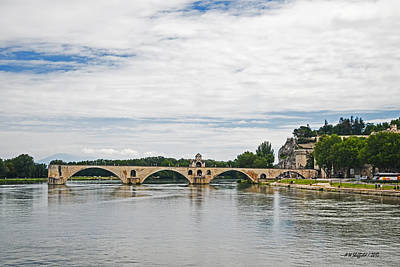 Photograph - Bridge At Avignon by Allen Sheffield