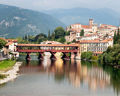 Bridge At Bassano Del Grappa Art Print
