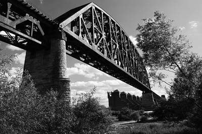 Bridge At Falls Of The Ohio Art Print by Chris Fender